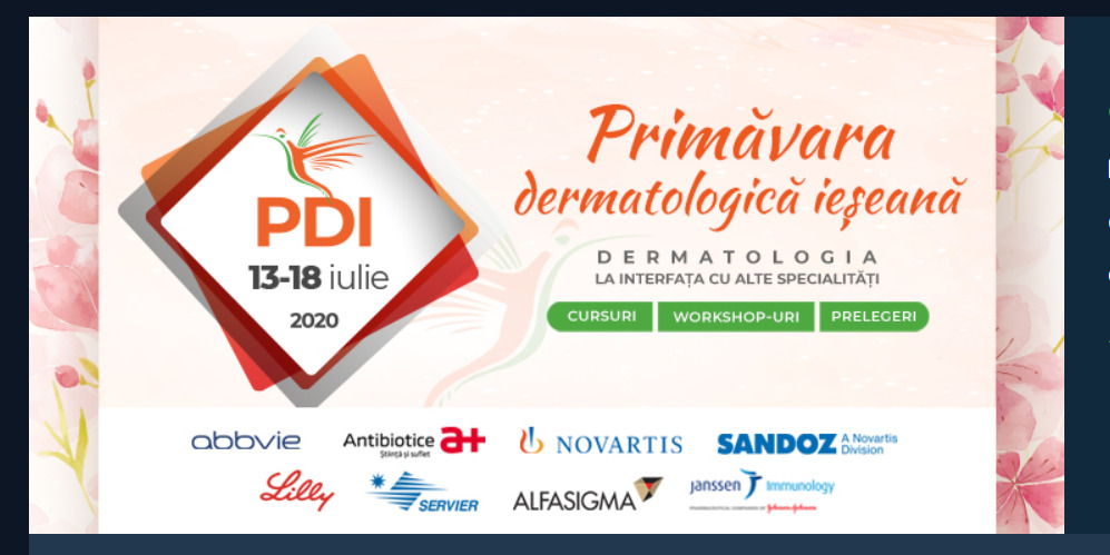 Iași Dermatological Spring – Dermatology at the interface with other specialties